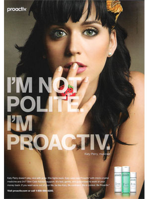 Katy Perry sang about kissing girls but didn't hurt Proactiv with her ...
